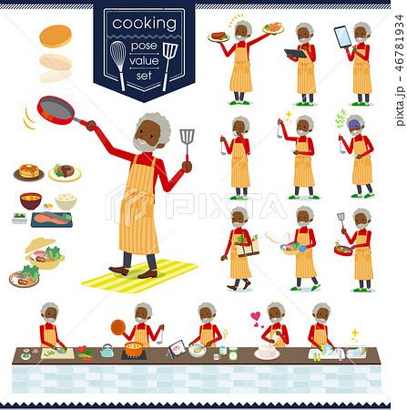 flat type high neck old man black_cooking 46781934