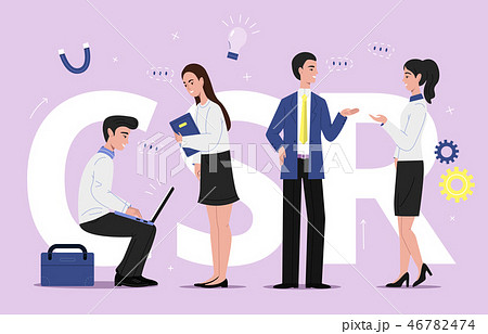 SCR corporate business illustration 46782474