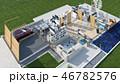 立体 3D 3Dのイラスト 46782576