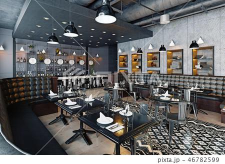 modern restaurant interior design. 46782599