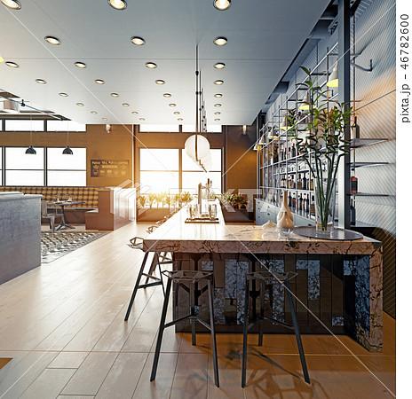 modern restaurant interior design. 46782600