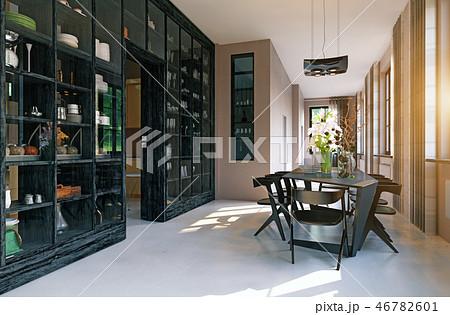 Modern dining interior design. 46782601