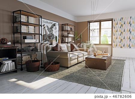modern living room 46782606