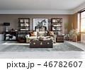 空間 部屋 インテリアのイラスト 46782607
