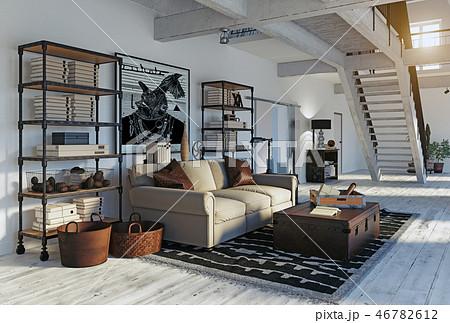 modern living room 46782612