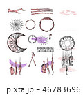 Set of Dreamcatcher. Design elements in Boho style 46783696