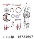 Set of Dreamcatcher. Design elements in Boho style 46783697
