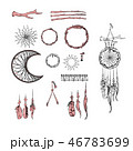 Set of Dreamcatcher. Design elements in Boho style 46783699