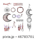 Set of Dreamcatcher. Design elements in Boho style 46783701