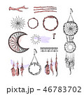 Set of Dreamcatcher. Design elements in Boho style 46783702