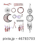 Set of Dreamcatcher. Design elements in Boho style 46783703