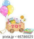 おもちゃ箱と絵本 46786025