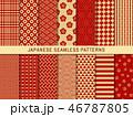 和柄 パターン 模様のイラスト 46787805