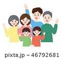 人物 家族 笑顔のイラスト 46792681