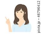 女性 説明 案内のイラスト 46796412