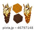 ワッフル アイスクリーム 食のイラスト 46797148