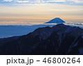朝焼け 富士山 日本百名山の写真 46800264