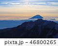 朝焼け 富士山 日本百名山の写真 46800265