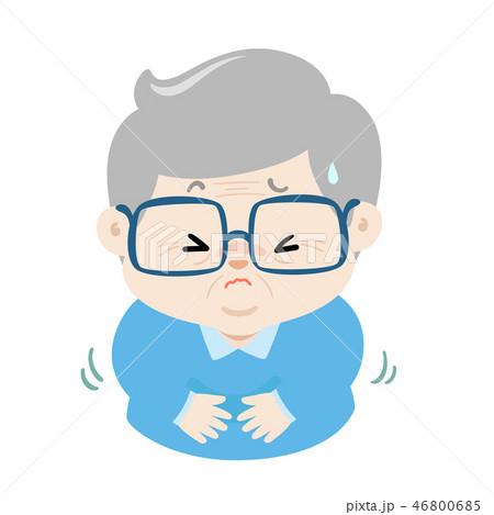 Grandpa having stomach ache cartoon vector. 46800685