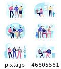 セット ビジネス 会議のイラスト 46805581
