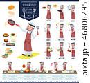 flat type Arab men_cooking 46806295
