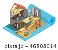 工事 ワーカー 作業者のイラスト 46808014