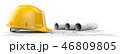 設計図 建築 ビルダーのイラスト 46809805