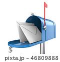 ボックス ポスト 郵便のイラスト 46809888