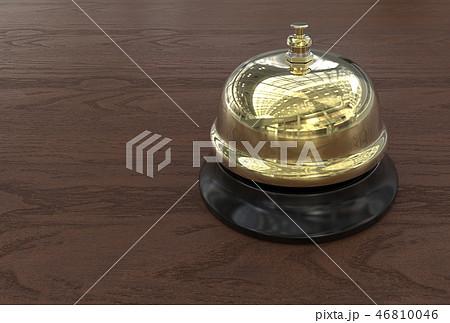 Brass Reception Bell Background. 46810046