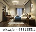 ベッド ベッドルーム 寝室のイラスト 46816531