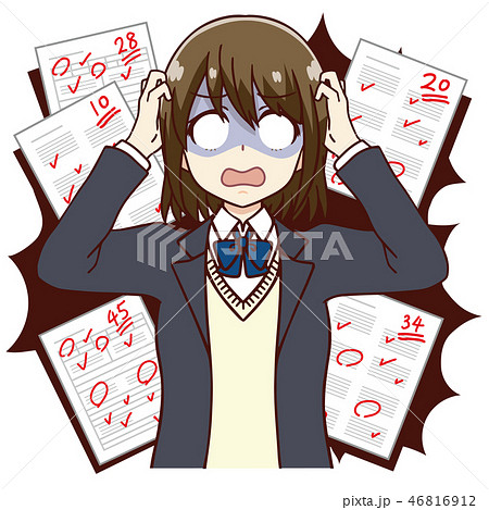 女子 学生 テスト 赤点 46816912