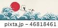 大波 波 鶴のイラスト 46818461
