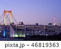 海 都市 夜の写真 46819363