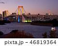 夕景 東京レインボーブリッジ 海の写真 46819364