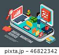 概念 デジタル マーケティングのイラスト 46822342