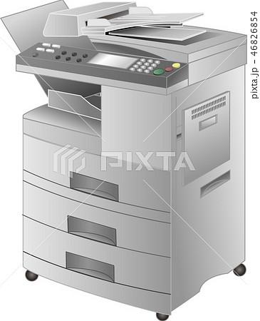 コピー機・FAX複合プリンタ(2型・copier)ベクター 46826854