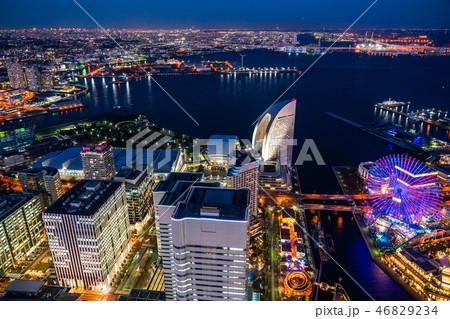 《神奈川県》横浜みなとみらい・トワイライト夜景 46829234