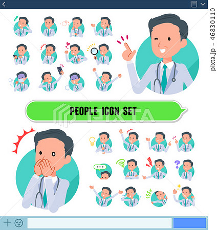 flat type Doctor old man_icon 46830110