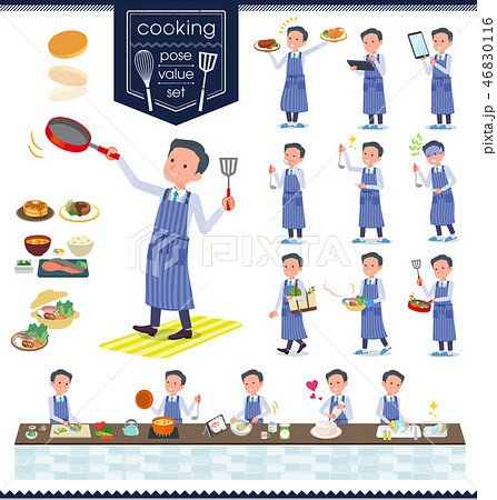 flat type Doctor old man_cooking 46830116