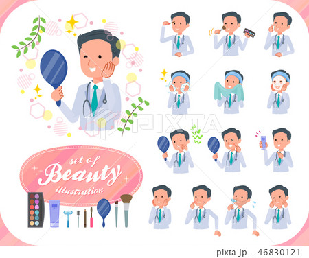 flat type Doctor old man_beauty 46830121