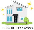 住宅 家 一軒家のイラスト 46832593