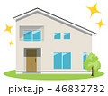 住宅 家 一軒家のイラスト 46832732