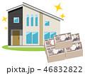 住宅 家 一軒家のイラスト 46832822