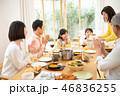 家族 ホームパーティー 三世代の写真 46836255