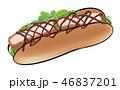 パン 惣菜パン 食べ物のイラスト 46837201