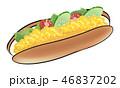 パン 惣菜パン 食べ物のイラスト 46837202