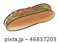 パン 惣菜パン 食べ物のイラスト 46837203