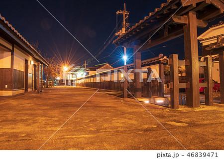 柳井市白壁の街夜景【山口県】 46839471