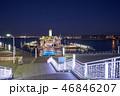都市風景 夜 海の写真 46846207