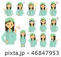作業員 女性 技術者のイラスト 46847953